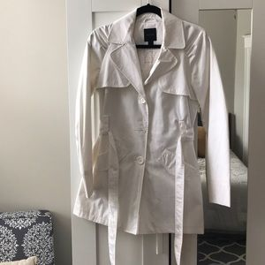 Express White Trench Coat